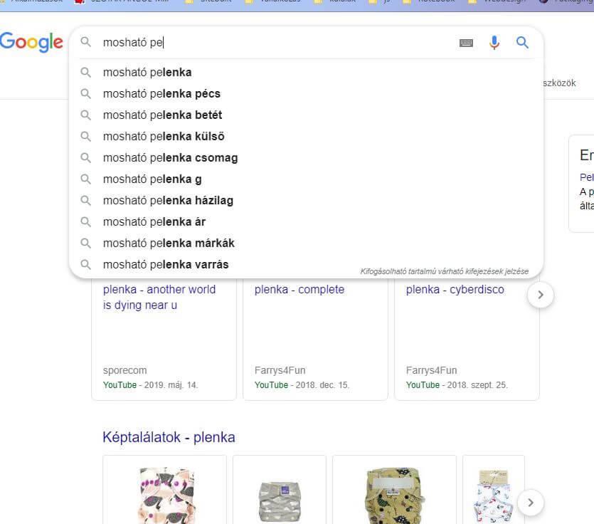 Google segít a seo kulcsszavak megtalálásában