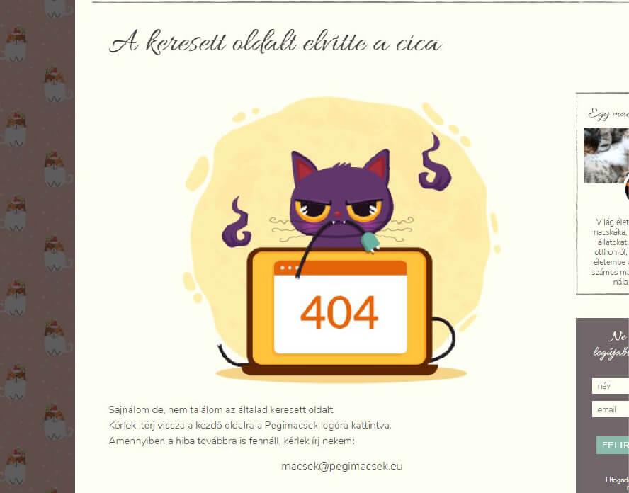 Vicces 404-es oldal segít csökkenteni a felhasználó bosszúságát
